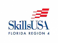 "Red flag and words ""Skills USA"" and ""Florida Region four"""
